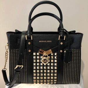 Michael Kors NOUVEAU HAMILTON Studded leather bag
